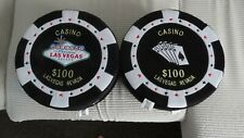 More details for 4 x las vegas nevada $100 black poker chip round plush cushions  gambler seats
