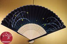 BEL EVENTAIL TRADITIONNEL JAPON FAN UCHIWA SENSU FIREFLY HOTARU LUCIOLE NEW NEUF