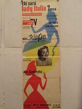 CONCORSO NAZIONALE LADY ITALIA 1956 locandina originale