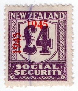 (I.B) New Zealand Revenue : Social Security £4 (1945)