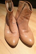 Ladies DUNE Brown Ankle Soft Lined Genuine Leather Boot UK Size 5 EU 38