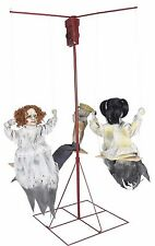 Halloween Animated CREEPY GHOSTLY GO ROUNDS 3 DOLLS Prop Haunted House NEW
