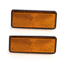 Amber LED Rectangle Reflector Turn Signal Marker Light Trailer Motorcycle Truck