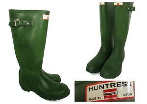 Hunter Huntress Field Boot Original Green (Matte) Size 7 Tall Rain Boots