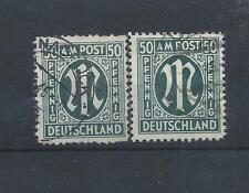 Germania francobolli. 1945 alleati occupazione militare POST 50pf usato. CV £ 46 (Z373