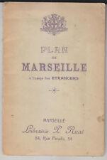 C1 MARSEILLE Ruat PLAN DE MARSEILLE a l USAGE des ETRANGERS Bon Etat