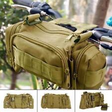 NEW MILITARY ARMY BICYCLE HANDLEBAR BAG WAIST PACK BIKE CYCLE HIKING BACKPACK LH
