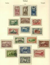 TURKEY 1914 STAMP SELECTION X 16 USED UNCHECKED AND AS RECEIVED