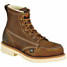 Thorogood Mens Heritage Brown Leather BOOTS 6in MOC Safety Toe 10 D Tax