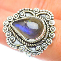 Labradorite 925 Sterling Silver Ring Size 7.75 Ana Co Jewelry R56818F