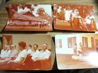 VINTAGE COLORED OLD PHOTOS MISSION TRIP, SSET OF 4