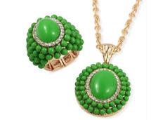 Green Chroma and Austrian Crystal set
