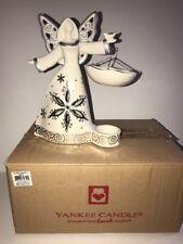 YANKEE CANDLE Angel Left Hanging Tart Burner with LED WHITE NEW Tags Boxed XMAS