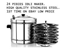 heavy duty Stainless steel idli cooker 6 rack 24 pieces idli maker cookware