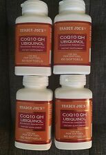 4 Trader Joe's CoQ10 QH UBIQUINOL Enhanced Absorption 100mg 60 Softgels EXP 2020