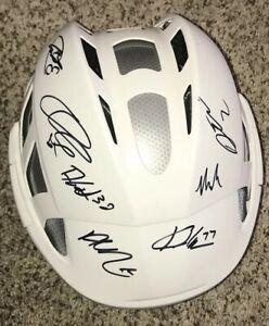 Chicago Blackhawks Signed Team Helmet 2019-20 Corey Crawford Kirby Dach More
