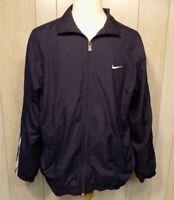 Vintage Nike Men's Windbreaker Jacket Size XL Zip Front Mesh Lined Blue