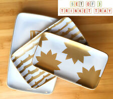 Set of 3 Decorative Bowls Trinket Trays  Gift Ideal for Keys, Pencils, Jewellery
