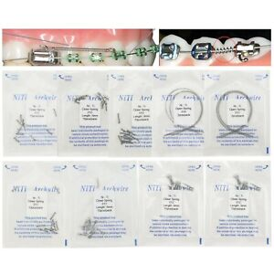 Dental Orthodontic Niti Closed Open Coil Spring Arch Wires 010 012 6mm 9mm 180mm