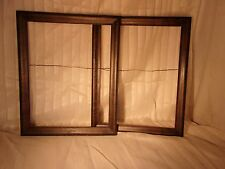 Pair of Antique FAUX GRAINED document frames 16 1/2 x 18  holds