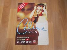 Celine DION Falling into the UK Tour 1997 EARLS Court London Concert Poster