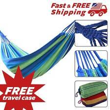 Camping Double Hammock Wide 7feet long 2 Person 450lbs Travel Hammock +Free Case