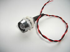 BIG (10mm) BRIGHT FLASHING RED/BLUE 12V LED  WITH CHROME BEZEL
