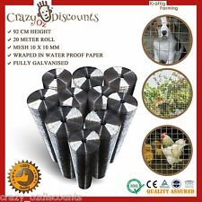 Welded Wire Mesh Construction Pet Chicken Coop Aviary Fencing Garden Poultry 20m