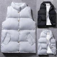 Mens Winter Zip Vest Sleeveless Puffer Bubble Outwear Padded Quilted Jacket Coat