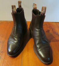 R.M.WILLIAMS Mens Dark Brown Leather ANKLE BOOTS - Sz.7G