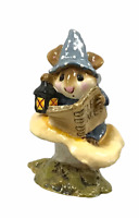 "Wee Forest Folk WFF ""Elf Tales"" M-163 Blue1989 RETIRED"