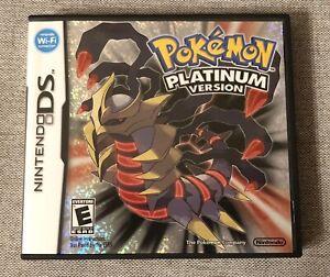 Pokemon Platinum (Nintendo DS, 2009) Complete & Authentic  DSI  3DSXL  3DS  2DS