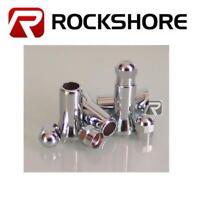 4 Chrome Valve Dust Caps & Stem Covers 27mm For BMW/Mercedes
