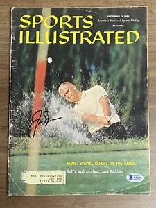 JACK NICKLAUS signed SPORTS ILLUSTRATED 9-12-1960 Autograph BAS Beckett Masters