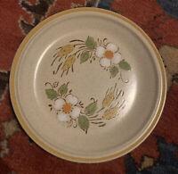 "Hearthside Garden Festival Salad Plate Prairie Flowers Stoneware  7.75"" Japan"