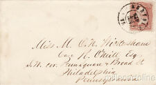 * U.S.A. - Small Envelope with 2c.stamp, from Norfolk to Philadelphia 1883