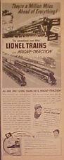 1950 Lionel Trains Joe DiMaggio New York Yankees Baseball Memorabilia Promo Ad