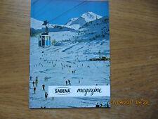 Revue Sabena Magazine N°21 Novembre 1959 5 raisons de partir en vacances d'hiver