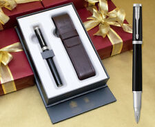 Parker Ingenuity Large - Black Lacquer Chrome Trim with Free Pen Pouch