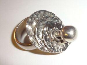 950 silver ring handmade jewelry equinoid ring 950 silver ring and equinoid fossil equinoid,fossil ring, handmade silver