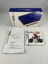Blue Nintendo DS Lite Box + Manual + Mario Kart Manual (NO GAMES OR CONSOLE)