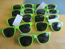 9 pairs of green geek style sunglasses.