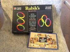 Vintage 1987 Mb Rubik's Magic Double Sided Jigsaw Puzzle