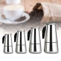 Stainless Steel Coffee Stove Pot Maker Tool Top  Mocha Espresso Latte Percolator