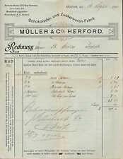 HERFORD, Rechnung 1910, Schokoladen-Fabrik Müller & Co.