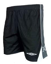 Homme XXL UMBRO EVO X Football Shorts Noir Training Gym Course Polyester 2XL