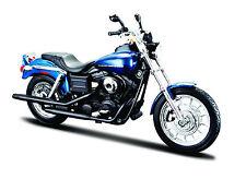 Harley Davidson 2006 FXDBI Dyna Street Bob dunkelblau  Maßstab 1:12 von maisto