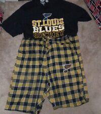 NEW NHL St Louis Blues Sleepwear Loungewear Shirt Pants Men S Small NEW NWT