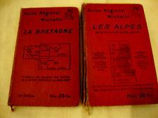 lot 2 GUIDE MICHELIN LES ALPES ET BRETAGNE FRANCE 1928-29