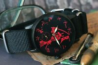 Vintage Mens Watches POBEDA Mechanical Watch Samurai Warrior Japanese Art /Gift